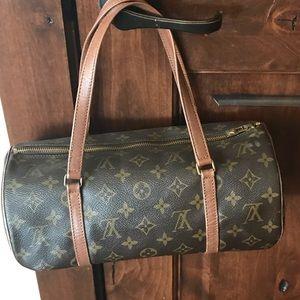 LV Monogrammed Papillon Barrel 30 vintage Handbag